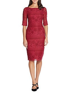 89d24ea4ee QUICK VIEW. Adrianna Papell. Scalloped Lace Sheath Dress
