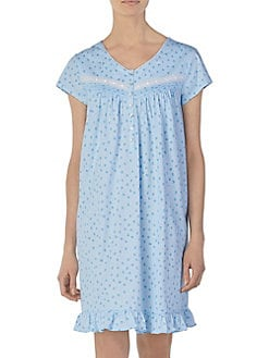 d9bc24f002 QUICK VIEW. Eileen West. Printed Short Nightgown