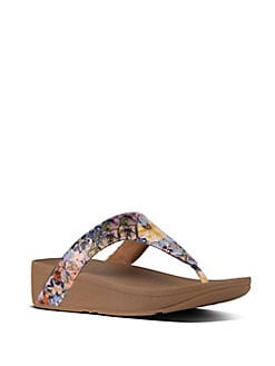 d0668995c Product image. QUICK VIEW. FitFlop. Lottie™ Flowercrush Leather Toe-Thong  Sandals.  90.00 · Fino™ Embellished Flip Flops ...