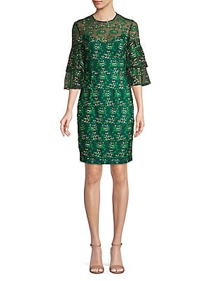 4dce96be Dress The Population - Frankie Sequin Fringe Sheath Dress ...