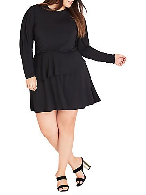f98149c46ca City Chic - Plus Rimple Fit- -Flare Dress