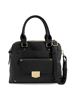 e82acd51c0 Violet Ray - Triple Compartment Faux Leather Satchel - lordandtaylor.com