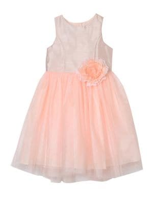 Baby Girls Bow FitFlare Dress