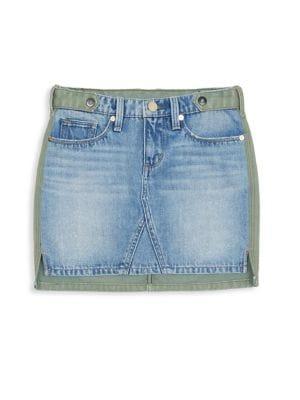 Girls Mixed Denim Skirt