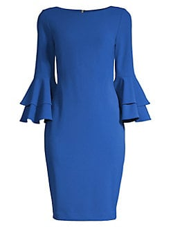 df58e2a1ba Product image. QUICK VIEW. Calvin Klein. Double Tier Bell Sleeve Sheath  Dress