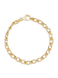 307190328 Product image. QUICK VIEW. Lord & Taylor. 14K Yellow Gold Link Bracelet