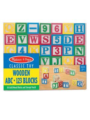 Wooden ABC  123 Blocks