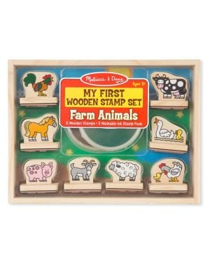 My First Farm Wooden Stamp Set