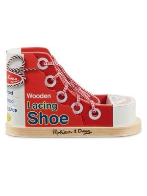 Wooden Lacing Shoe