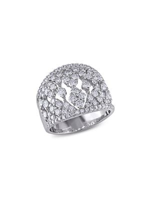 Image of Vintage 18K White Gold & Diamond Ring