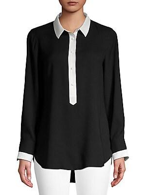 15e3320389868 IMNYC Isaac Mizrahi - Classic Long-Sleeve Top