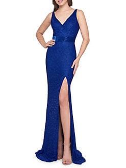 471c77fdbc20 QUICK VIEW. Mac Duggal. Surplice Glitter Gown
