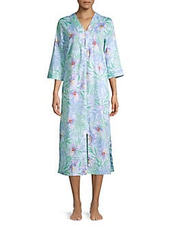 2e2037f9f7 QUICK VIEW. Miss Elaine. Tropical Zip Up Robe
