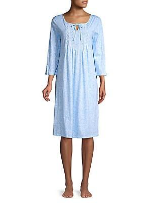 ad15643f84 Carole Hochman - Printed Cotton Nightgown