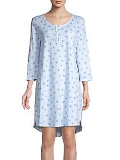 QUICK VIEW. Carole Hochman. Printed Three-Quarter Sleeve Night Dress 03373dd07