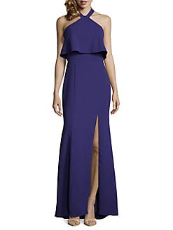 c463b2aaa33 QUICK VIEW. Xscape. Halter High Slit Gown