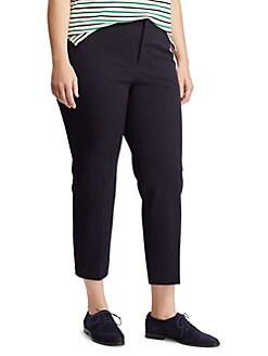fd8f057c847f5 Plus Cropped Twill Skinny Pants LAUREN NAVY. QUICK VIEW. Product image.  QUICK VIEW. Lauren Ralph Lauren