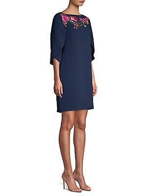 95cec72b Trina Turk - Embroidered Petal Sleeve Dress - lordandtaylor.com