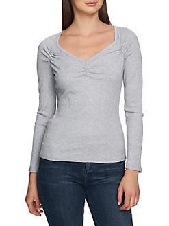 11ae6f71edb Heathered Long-Sleeve Top GREY. QUICK VIEW. Product image