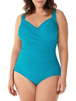 77f9b76a4a6a4 Plus Sanibel One-Piece Slimming Swimsuit BLACK. QUICK VIEW. Product image