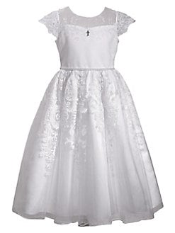 QUICK VIEW. Iris   Ivy. Little Girl s   Girl s Illusion Lace-Trimmed  Communion Dress 8346290fdd3a