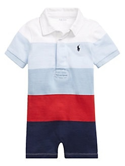 d347dc9c2 QUICK VIEW. Ralph Lauren Childrenswear. Baby Boy's Colorblock Cotton Romper