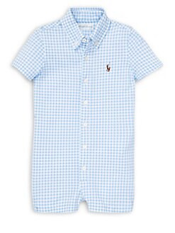 af394bb22 Product image. QUICK VIEW. Ralph Lauren Childrenswear. Baby Boy's Gingham  Cotton Shortalls. $35.00 Now $21.00