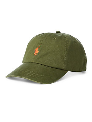 Polo Ralph Lauren - Cotton Chino Baseball Cap - lordandtaylor.com 04966ad6ed7