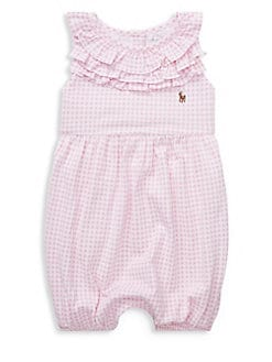 36ab1374322e QUICK VIEW. Ralph Lauren Childrenswear. Baby Girl's Ruffled Romper