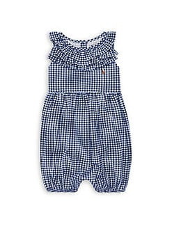 d0e0942c61701 QUICK VIEW. Ralph Lauren Childrenswear. Baby Girl's Ruffle Gingham Romper