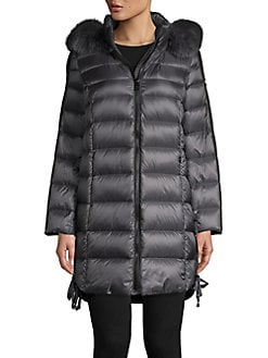 dcd2f8a8859 QUICK VIEW. 1 Madison. Fox Fur Trim Hooded Puffer Jacket