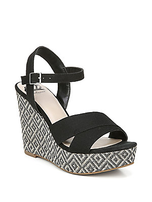 562052e56e Fergalicious - Mollie Ankle-Strap Geo Wedge Sandals