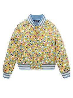 1820a74a2 QUICK VIEW. Ralph Lauren Childrenswear. Little Girl's Floral Cotton Bomber  Jacket. $125.00 ...