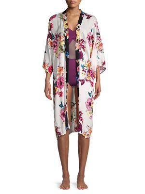 Image of Classic Floral Kimono