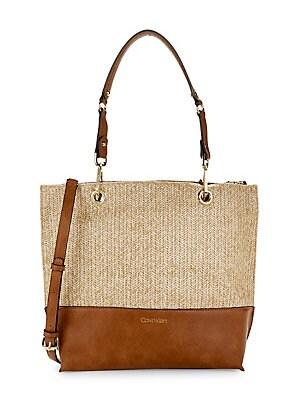 d6fb41d719 Calvin Klein - Straw Sonoma Tote Bag