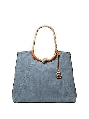 e9f6b3ad1e0670 MICHAEL Michael Kors - Large Isla Grab Denim Shoulder Bag ...