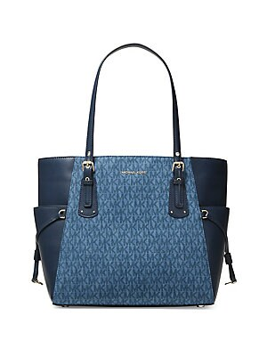 ac9f6ce17f45 MICHAEL Michael Kors - Voyager Medium Leather Tote - lordandtaylor.com