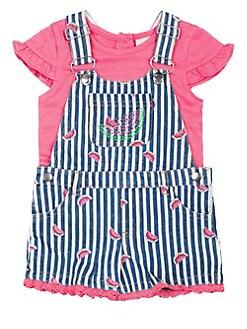 0223badb50 QUICK VIEW. Little Lass. Little Girl's Printed Cotton Shortalls & Top Set
