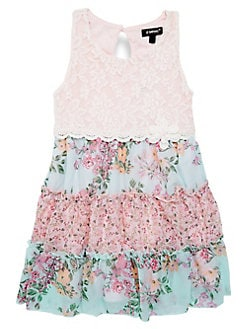f71fbf1ff14 QUICK VIEW. Zunie. Little Girl s Lace Floral Dress