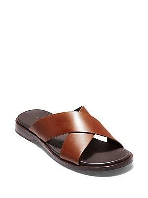 2c4ef10877cc Cole Haan - Goldwyn 2.0 Leather Crisscross Sandals br ...