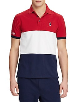 Classic Fit Mesh Polo Shirt RED MULTI. QUICK VIEW. Product image b1c7227099