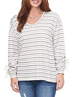 39c48d6d763391 QUICK VIEW. Democracy. Striped Long-Sleeve Top