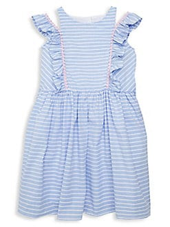 234570b0fc66a Little Girl's Ruffled Stripe Dress BLUE WHITE. QUICK VIEW. Product image.  QUICK VIEW. Marmellata