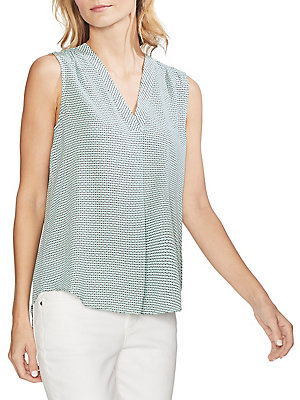 463a93c47b Vince Camuto - Daybreak Printed V-Neck Rumple Blouse