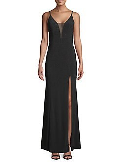 37936f3f4b4fef QUICK VIEW. Betsy & Adam. Embellished Mesh Gown