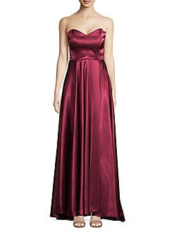 12761a9c5e169 Product image. QUICK VIEW. Blondie Nites. Strapless Caged Side Evening Gown