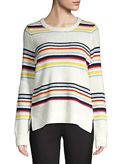 4a6ee5f914 QUICK VIEW. Design Lab. Striped Cotton Blend Sweater