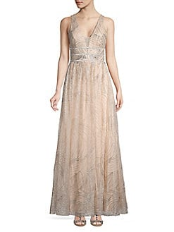 9b34131ab31 QUICK VIEW. Blondie Nites. Glitter Mesh Sleeveless Evening Gown