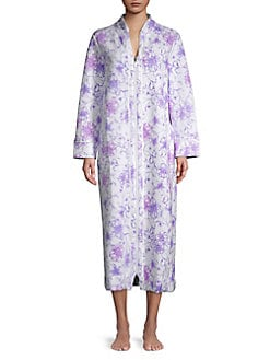 QUICK VIEW. Carole Hochman. Floral-Print Cotton Blend Robe 84e596d41