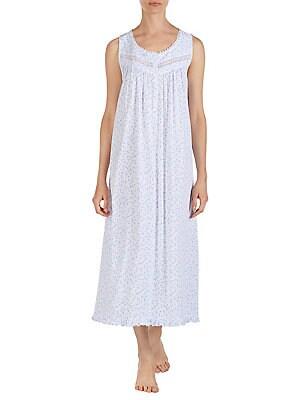 4e118e65cc Eileen West - Lace-Trimmed Cotton Ballet Nightgown
